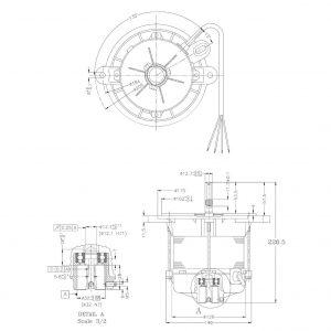 موتور AC یک کیلووات 400 هرتز-Motor 400 Hz 1 kW