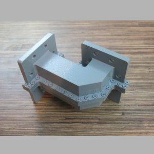 خم موجبری 90 درجه 4x10 باند C